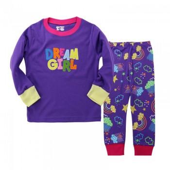 """Детская пижама для девочки из 2 предметов """"Девушка мечты"""""""