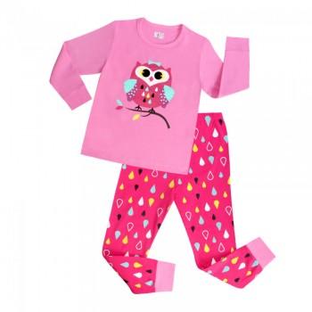 """Детская пижама для девочки из 2 предметов """"Милашка совушка"""""""