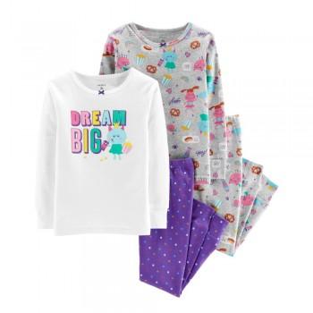 """Детская пижама для девочки из 4 предметов """"Большие мечты"""""""