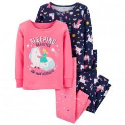"""Детская пижама для девочки из 4 предметов """"Красавица нарушает сон"""""""