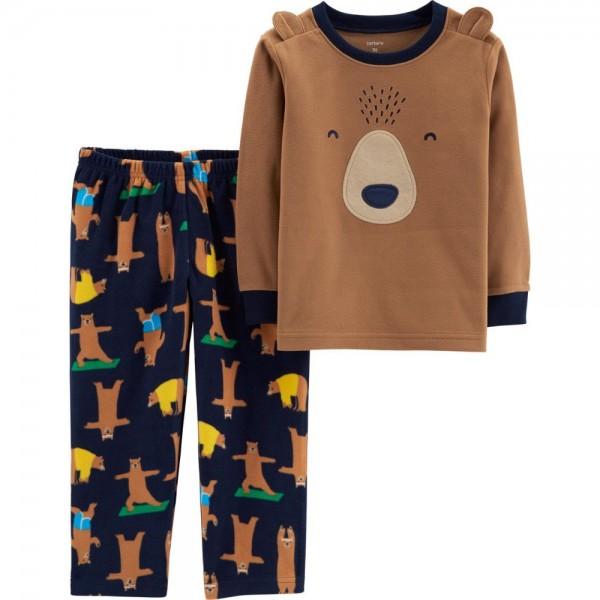 """Детская пижама микрофлисовая из 2 предметов для мальчика """"Утренняя зарядка"""""""