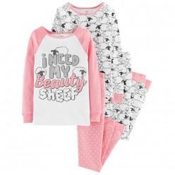"""Детская пижама для девочки из 4 предметов """"Я красивая овечка"""""""