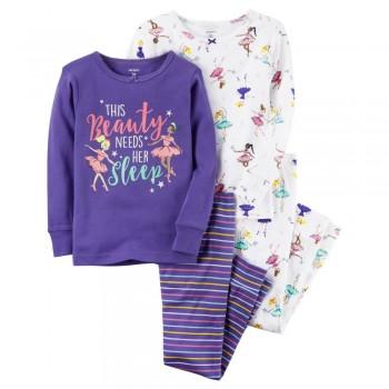 """Детская пижама для девочки из 4 предметов """"Красотка в пижамке"""""""