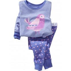 """Детская пижама для девочки из 2 предметов """"Волшебная птица"""""""