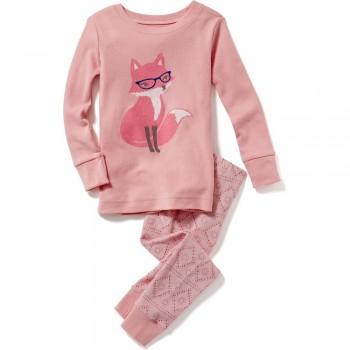 """Детская пижама для девочки из 2 предметов """"Красивая лисичка"""""""