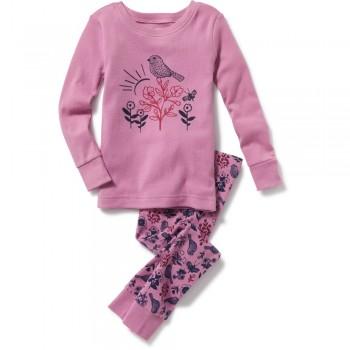 """Детская пижама для девочки из 2 предметов """"Ранняя птичка"""""""