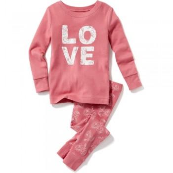 """Детская пижама для девочки из 2 предметов """"Удивительная любовь"""""""