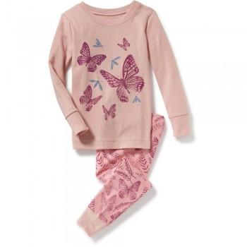 """Детская пижама для девочки из 2 предметов """"Вечерние бабочки"""""""