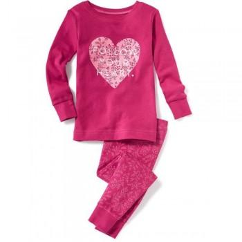 """Детская пижама для девочки из 2 предметов """"Следуй за своим сердцем"""""""