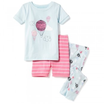 """Детская пижама для девочки из 3 предметов """"Воздушные шары"""""""
