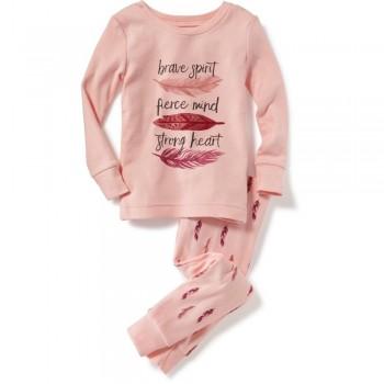 """Детская пижама для девочки из 2 предметов """"Легкое перышко"""""""