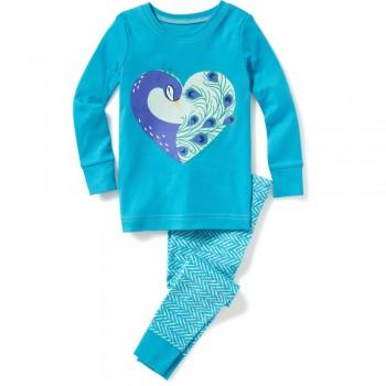 """Детская пижама для девочки из 2 предметов """"Прекрасная пава"""""""