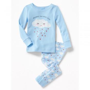 """Детская пижама для девочки из 2 предметов """"Грустная тучка"""""""