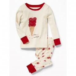 """Детская пижама для девочки из 2 предметов """"Любимое мороженное"""""""