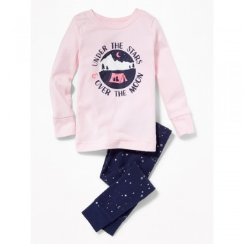"""Детская пижама для девочки из 2 предметов """"Звездная ночь"""""""