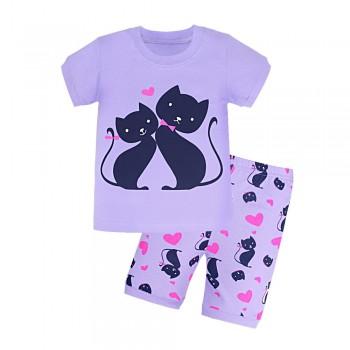 """Детская пижама для девочки из 2 предметов """"Влюбленные кошечки - 3"""""""