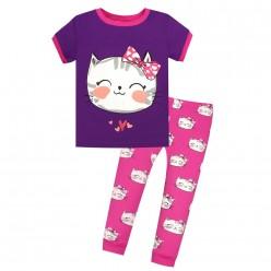 """Детская пижама для девочки из 2 предметов """"Кошечка с бантиком - 2"""""""