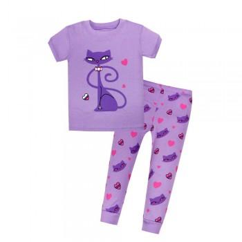"""Детская пижама для девочки из 2 предметов """"Любимая кошечка"""""""
