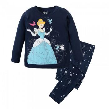 """Детская пижама для девочки из 2 предметов """"Золушка. Маленькое волшебство"""""""
