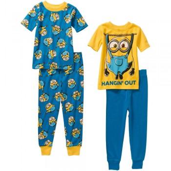 """Детская пижама для мальчика из 4 предметов """"Миньоны. Крутая тусовка"""""""