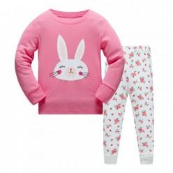 """Детская пижама для девочки из 2 предметов """"Цветочная зайка"""""""
