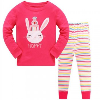 """Детская пижама для девочки из 2 предметов """"Сладкая зайка"""""""