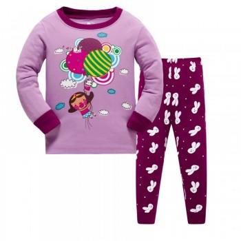 """Детская пижама для девочки из 2 предметов """"Полет к приключениям"""""""