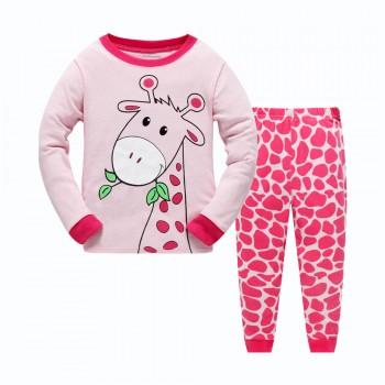 """Детская пижама для девочки из 2 предметов """"Милашка жирафик"""""""