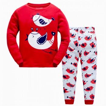 """Детская пижама для девочки из 2 предметов """"Чудные птицы"""""""