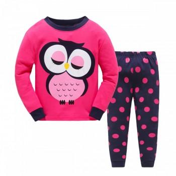 """Детская пижама для девочки из 2 предметов """"Сонная совушка"""""""