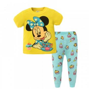 """Детская пижама для девочки из 2 предметов """"Минни Маус. Солнечное настроение"""""""