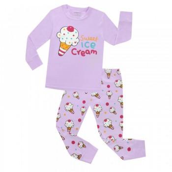 """Детская пижама для девочки из 2 предметов """"Сладкое мороженное -2"""""""