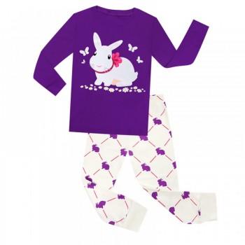 """Детская пижама для девочки из 2 предметов """"Белая зайка"""""""