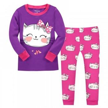 """Детская пижама для девочки из 2 предметов """"Кошечка с бантиком"""""""