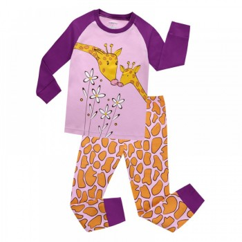 """Детская пижама для девочки из 2 предметов """"Мамин жирафик"""""""