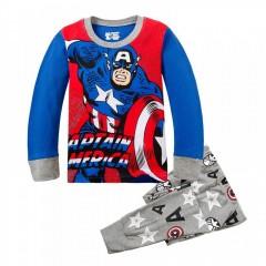 """Детская пижама для мальчика из 2 предметов """"Капитан Америка. В бой"""""""
