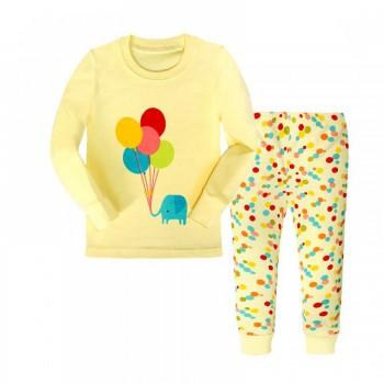"""Детская пижама для девочки из 2 предметов """"Слонишка и шарики"""""""