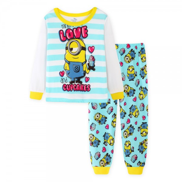 """Детская пижама для детей из 2 предметов """"Миньоны. Люблю капкейк"""""""