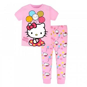 """Детская пижама для девочки из 2 предметов """"Хелло Китти. Веселые шарики"""""""