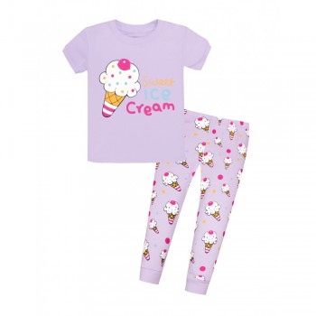 """Детская пижама для девочки из 2 предметов """"Сладкое мороженное"""""""