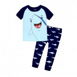 """Детская пижама для мальчика из 2 предметов """"Добрая акула"""""""
