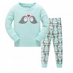 """Детская пижама для девочки из 2 предметов """"Влюбленные птички"""""""