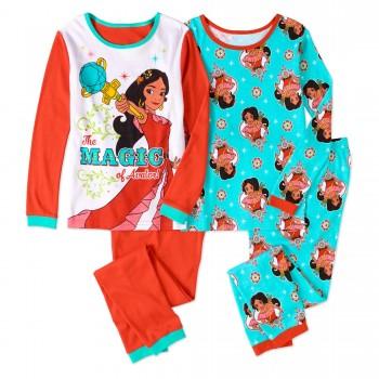 """Детская пижама для девочки из 4 предметов голубая """"Елена принцесса Авалора. Магия"""""""