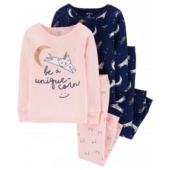"""Детская пижама для девочки из 4 предметов """"Ночная кошечка"""""""