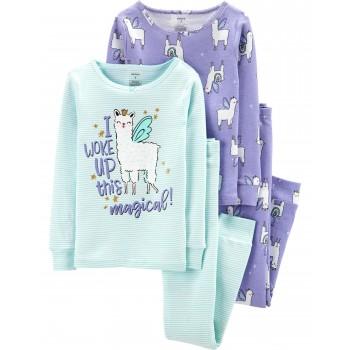 """Детская пижама для девочки из 4 предметов """"Заколдованная принцесса"""""""