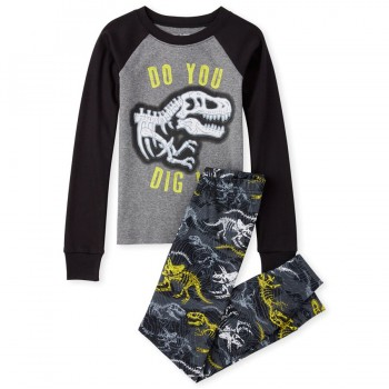 """Детская пижама для мальчика из 2 предметов """"Динозавр"""""""