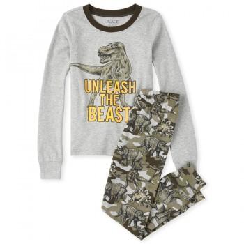 """Детская пижама для мальчика из 2 предметов """"Древние динозавры"""""""