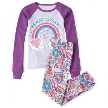 """Детская пижама для девочки из 2 предметов """"Сладкоежка"""""""