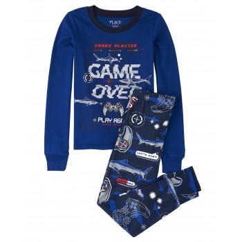 """Детская пижама для мальчика из 2 предметов синяя """"Отличный игрок"""""""