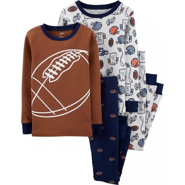 """Детская пижама для мальчика из 4 предметов """"Американский футбол"""""""